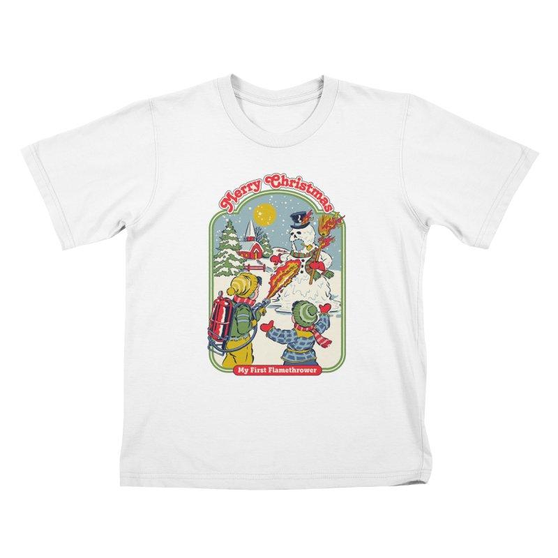 My First Flamethrower Kids T-Shirt by Steven Rhodes