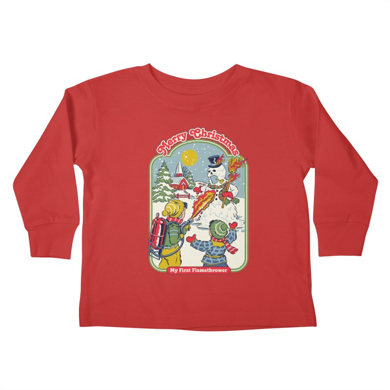 My First Flamethrower Kids Toddler Longsleeve T-Shirt by Steven Rhodes