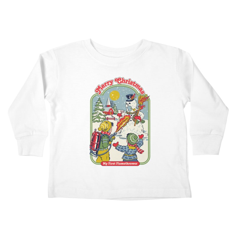 My First Flamethrower Kids Toddler Longsleeve T-Shirt by Steven Rhodes