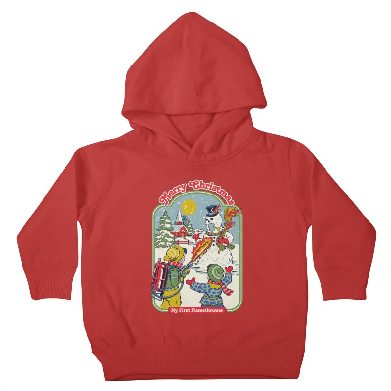My First Flamethrower Kids Toddler Pullover Hoody by Steven Rhodes