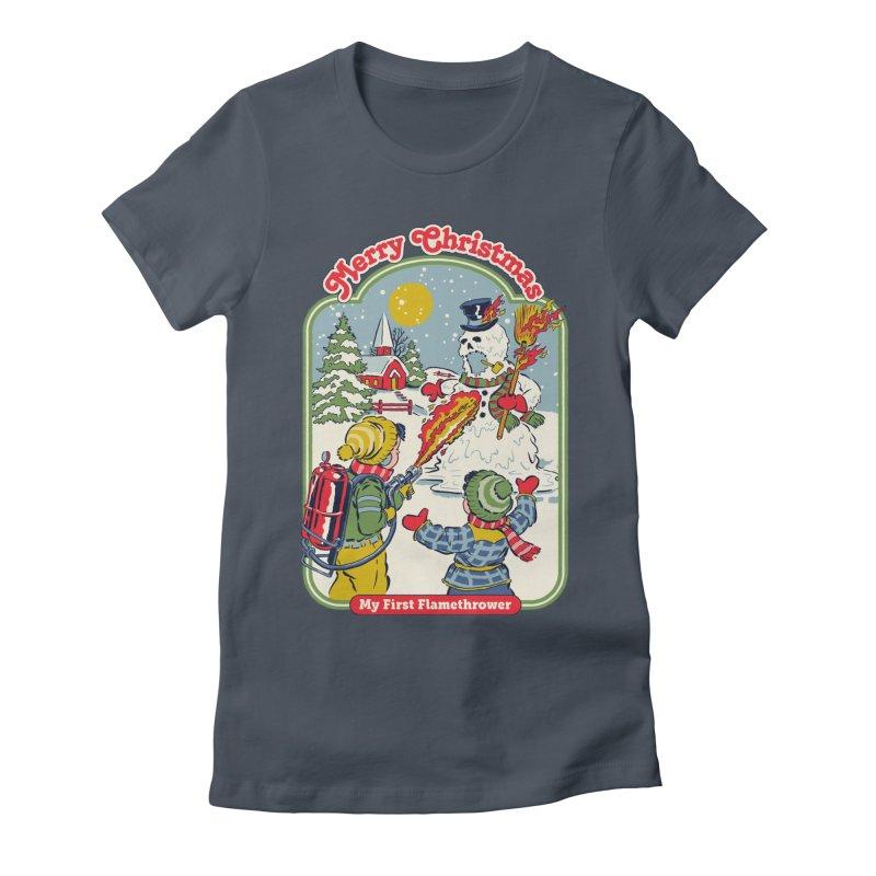 My First Flamethrower Women's T-Shirt by Steven Rhodes