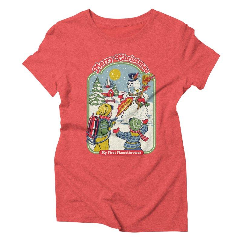 My First Flamethrower Women's Triblend T-Shirt by Steven Rhodes