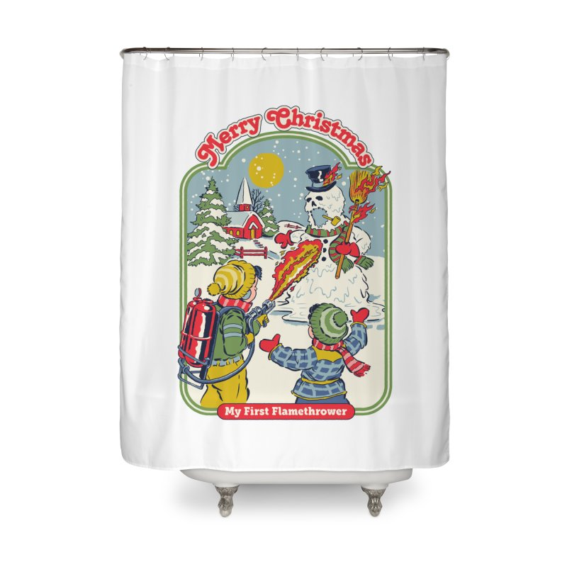 My First Flamethrower Home Shower Curtain by Steven Rhodes