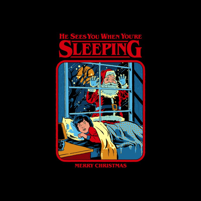 He Sees You When You're Sleeping Women's Longsleeve T-Shirt by Steven Rhodes