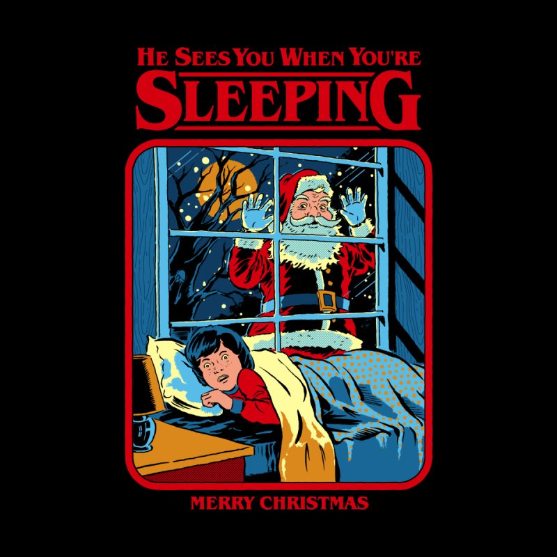 He Sees You When You're Sleeping Accessories Sticker by Steven Rhodes