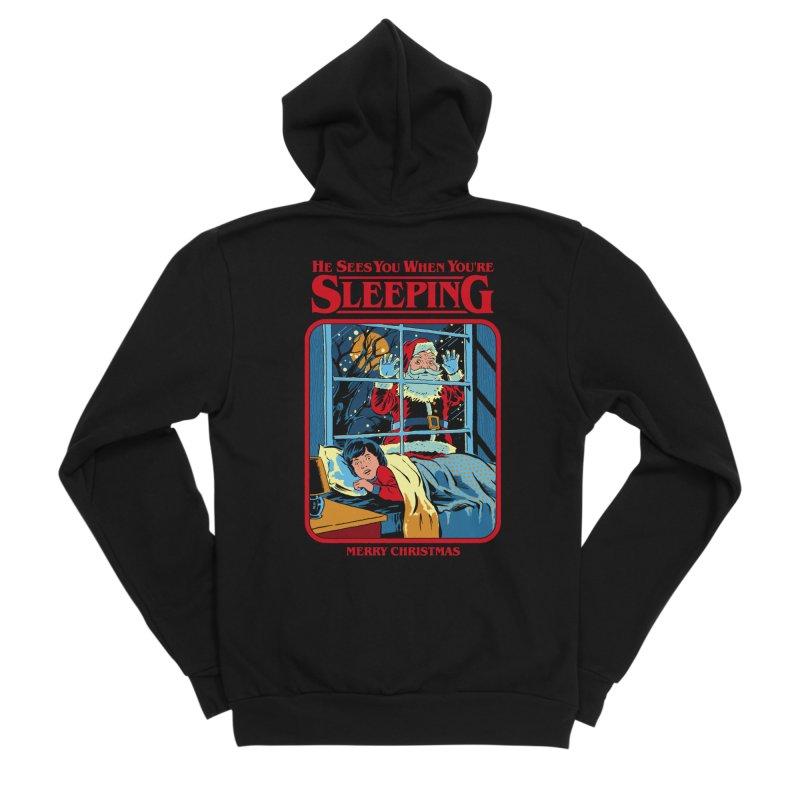 He Sees You When You're Sleeping Women's Zip-Up Hoody by Steven Rhodes
