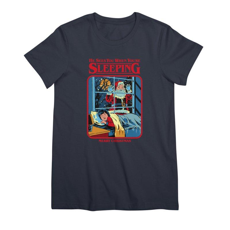 He Sees You When You're Sleeping Women's Premium T-Shirt by Steven Rhodes