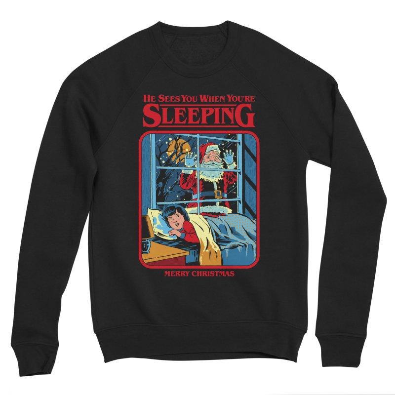 He Sees You When You're Sleeping Men's Sponge Fleece Sweatshirt by Steven Rhodes