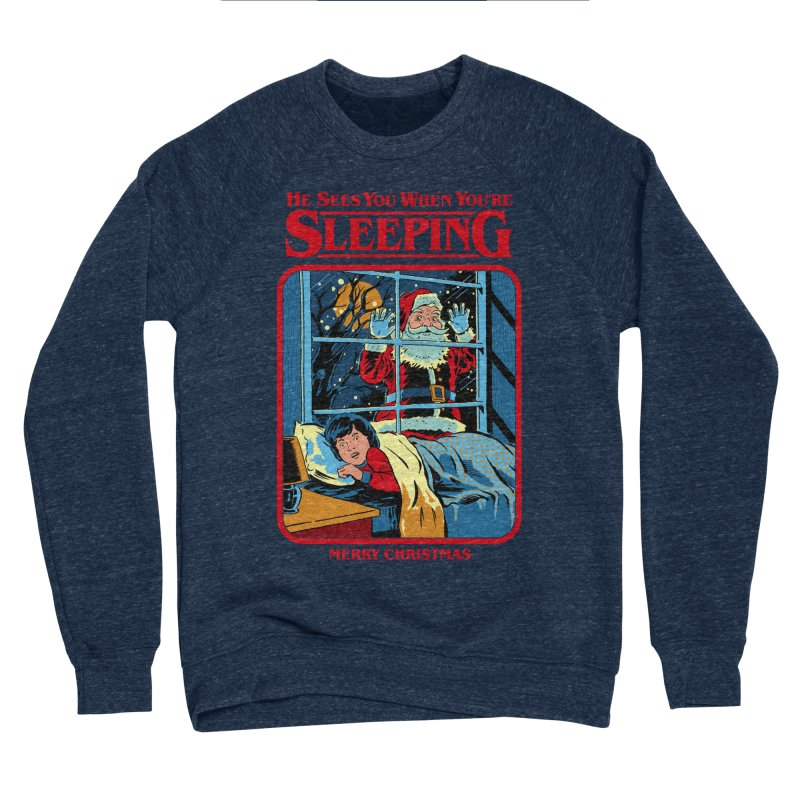 He Sees You When You're Sleeping Women's Sponge Fleece Sweatshirt by Steven Rhodes