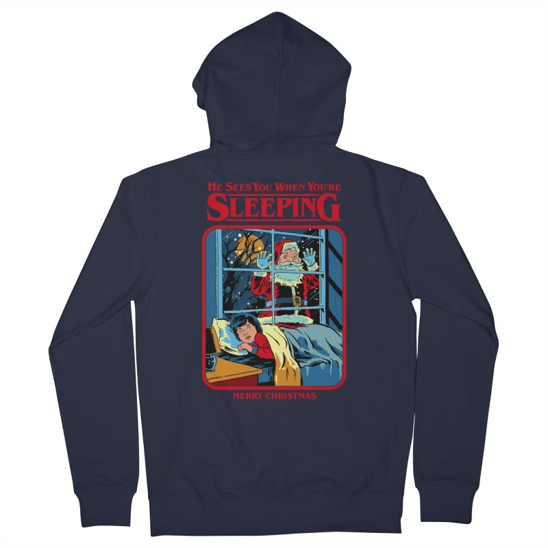 He Sees You When You're Sleeping Women's Zip-Up Hoody by Steven Rhodes