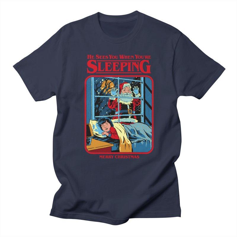 He Sees You When You're Sleeping Men's Regular T-Shirt by Steven Rhodes