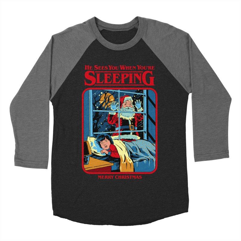 He Sees You When You're Sleeping Men's Baseball Triblend Longsleeve T-Shirt by Steven Rhodes
