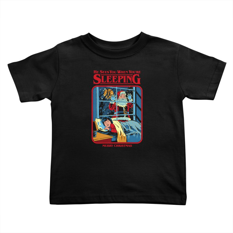 He Sees You When You're Sleeping Kids Toddler T-Shirt by Steven Rhodes