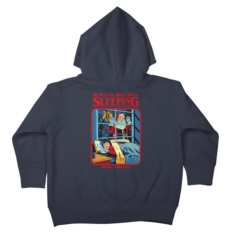 He Sees You When You're Sleeping Kids Toddler Zip-Up Hoody by Steven Rhodes