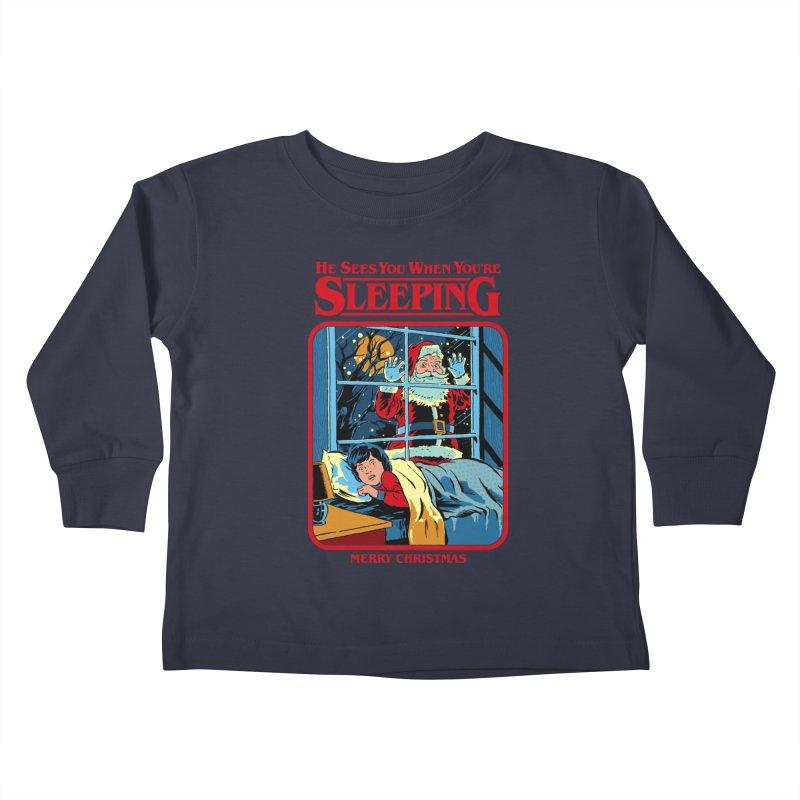 He Sees You When You're Sleeping Kids Toddler Longsleeve T-Shirt by Steven Rhodes