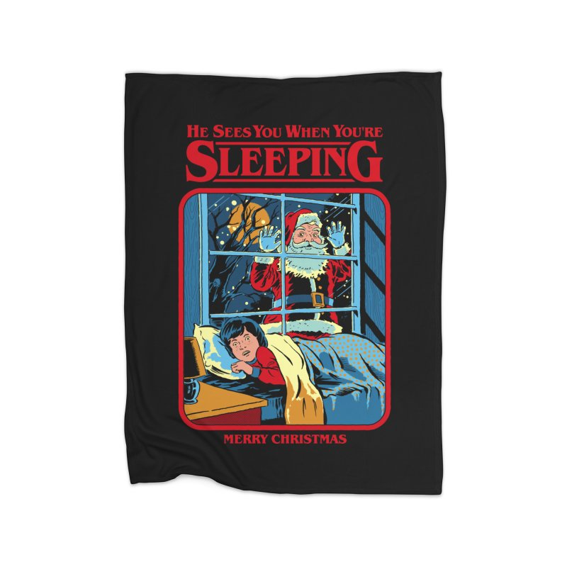 He Sees You When You're Sleeping Home Blanket by Steven Rhodes