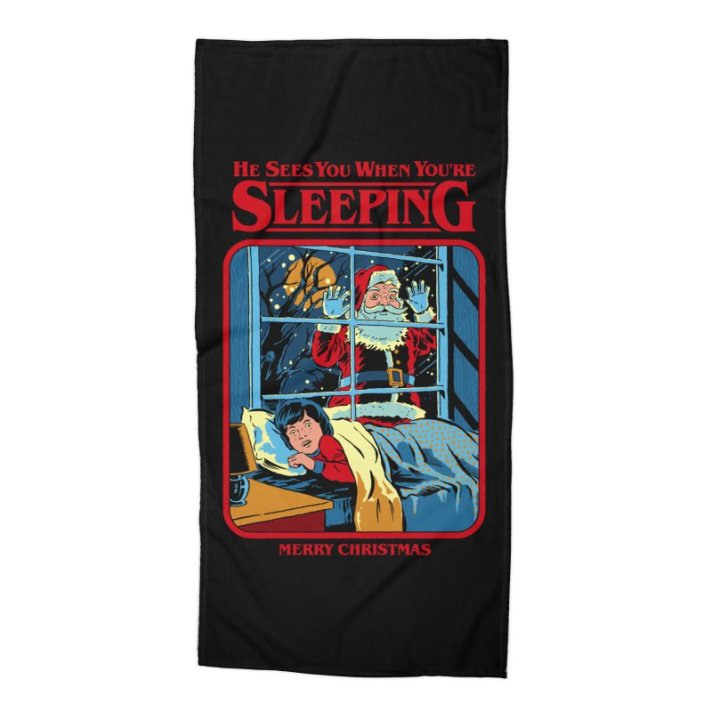 He Sees You When You're Sleeping Accessories Beach Towel by Steven Rhodes