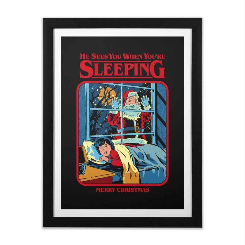 He Sees You When You're Sleeping Home Framed Fine Art Print by Steven Rhodes