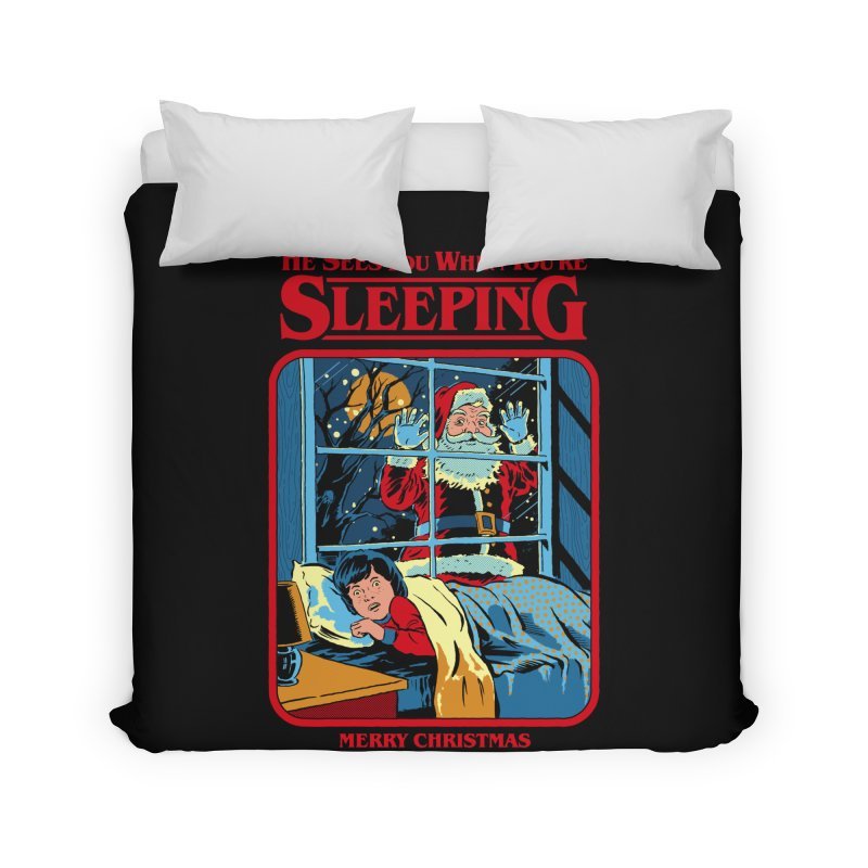 He Sees You When You're Sleeping Home Duvet by Steven Rhodes