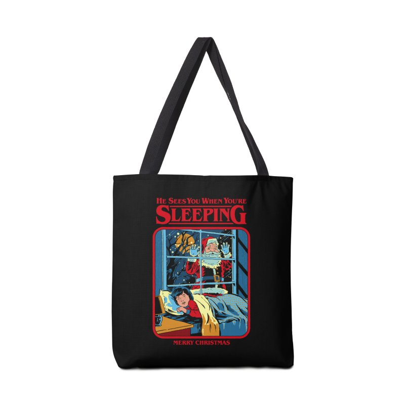 He Sees You When You're Sleeping Accessories Bag by Steven Rhodes