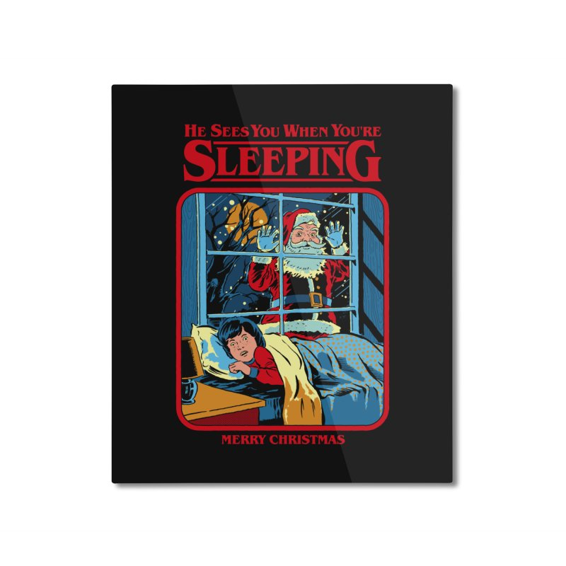 He Sees You When You're Sleeping Home Mounted Aluminum Print by Steven Rhodes