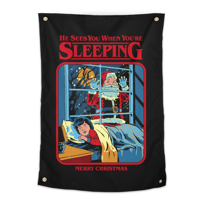 He Sees You When You're Sleeping Home Tapestry by Steven Rhodes