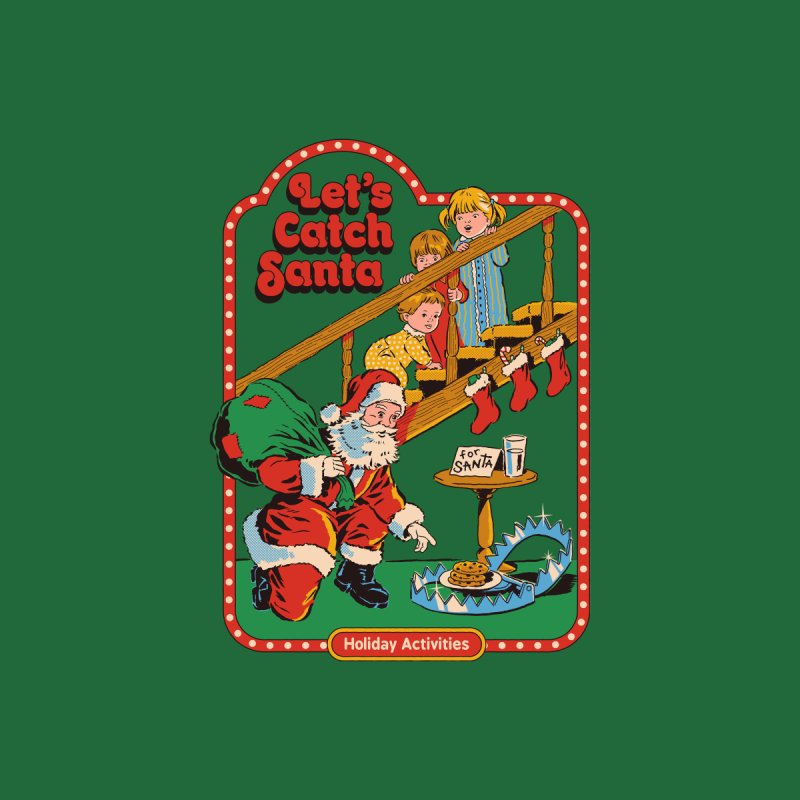Let's Catch Santa Accessories Sticker by Steven Rhodes