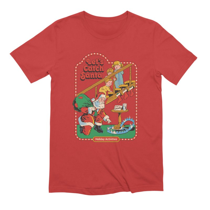 Let's Catch Santa Men's T-Shirt by Steven Rhodes