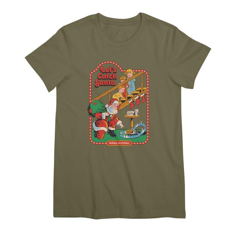 Let's Catch Santa Women's Premium T-Shirt by Steven Rhodes