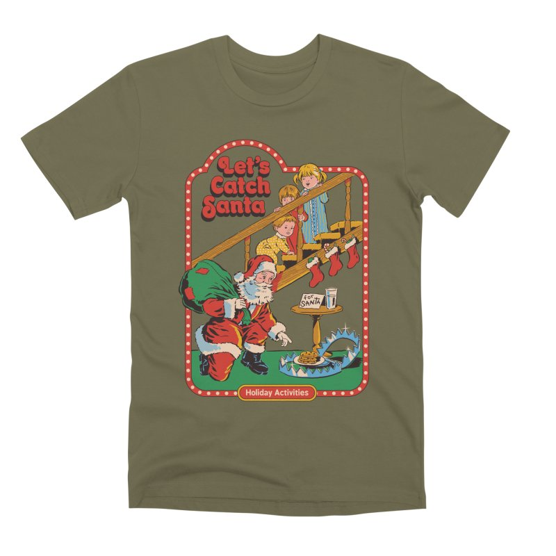 Let's Catch Santa Men's Premium T-Shirt by Steven Rhodes