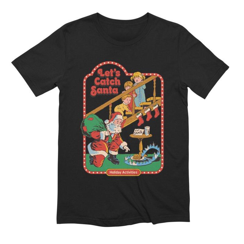 Let's Catch Santa Men's Extra Soft T-Shirt by Steven Rhodes