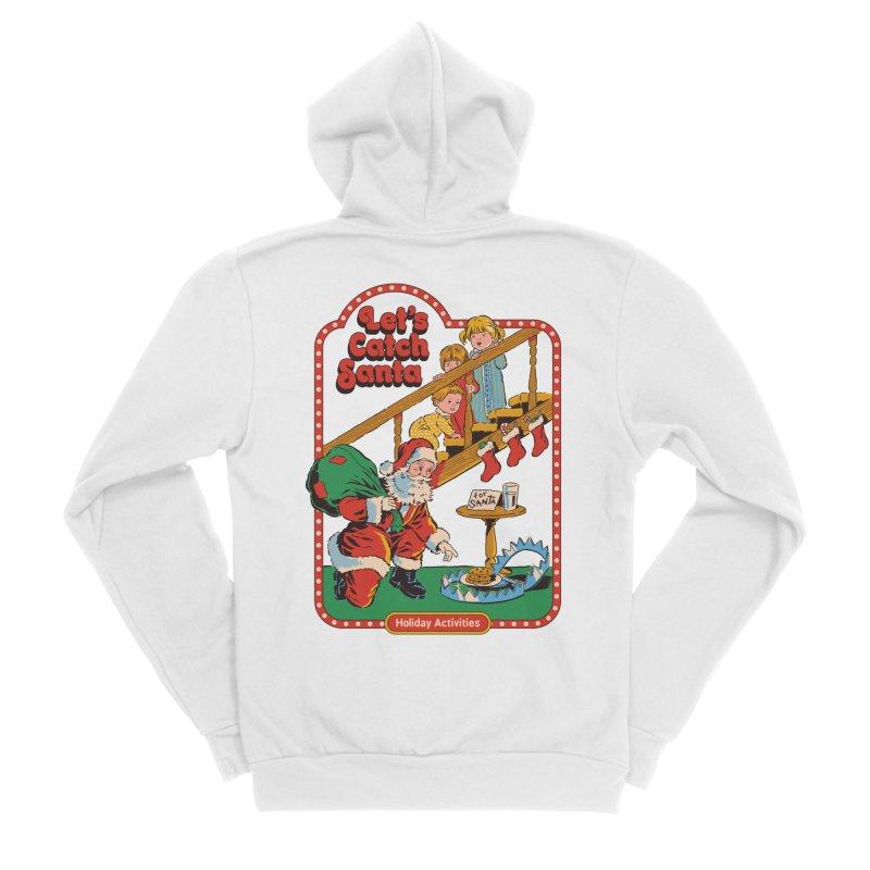 Let's Catch Santa Men's Sponge Fleece Zip-Up Hoody by Steven Rhodes