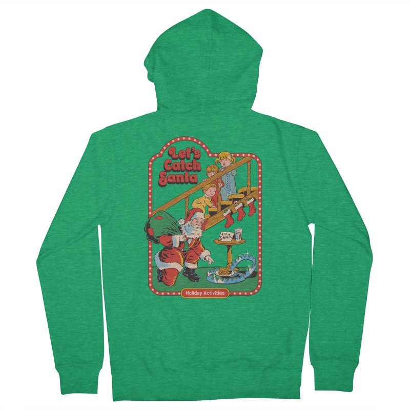 Let's Catch Santa Women's Zip-Up Hoody by Steven Rhodes
