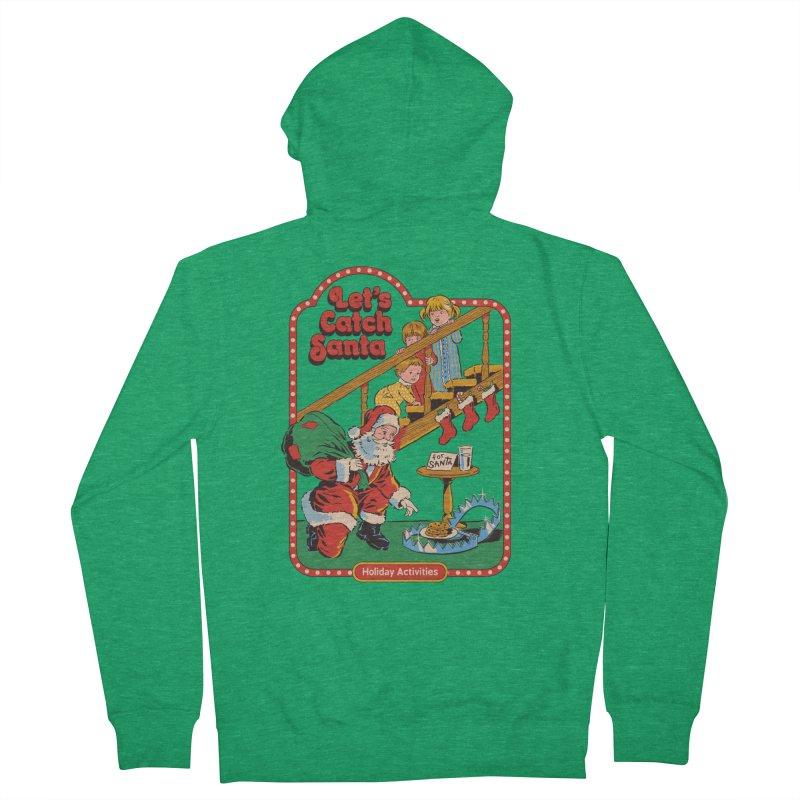 Let's Catch Santa Men's Zip-Up Hoody by Steven Rhodes