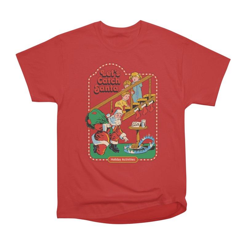 Let's Catch Santa Women's Heavyweight Unisex T-Shirt by Steven Rhodes