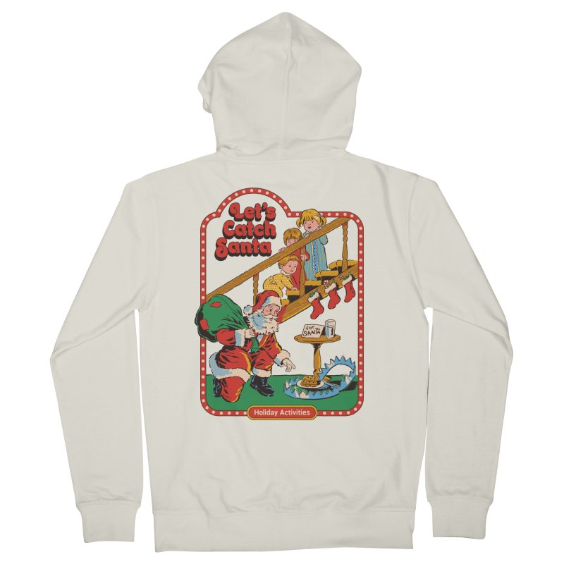 Let's Catch Santa Men's French Terry Zip-Up Hoody by Steven Rhodes