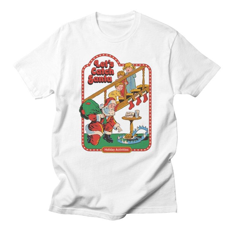 Let's Catch Santa Men's Regular T-Shirt by Steven Rhodes