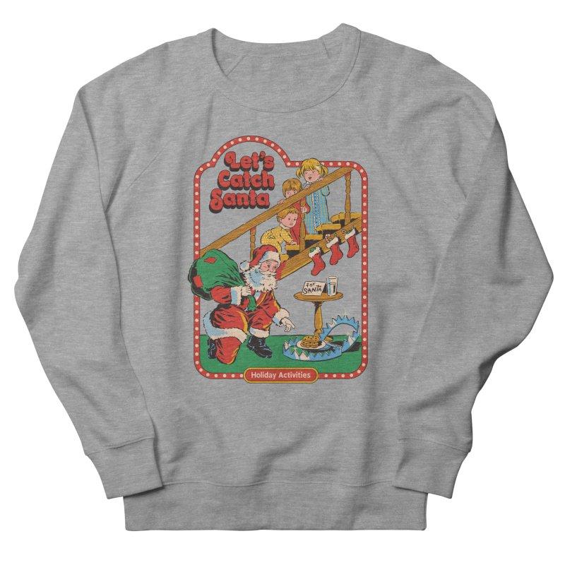 Let's Catch Santa Men's French Terry Sweatshirt by Steven Rhodes