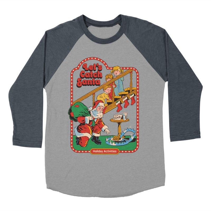 Let's Catch Santa Women's Baseball Triblend Longsleeve T-Shirt by Steven Rhodes