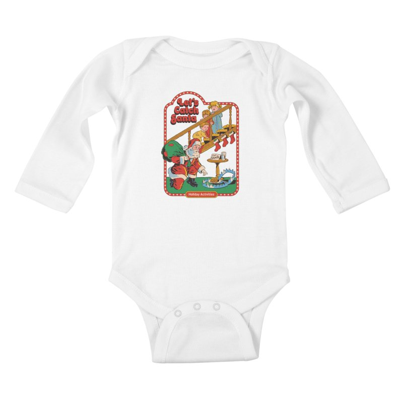 Let's Catch Santa Kids Baby Longsleeve Bodysuit by Steven Rhodes