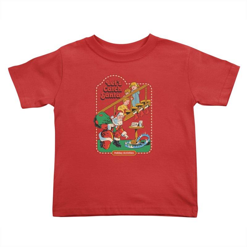 Let's Catch Santa Kids Toddler T-Shirt by Steven Rhodes