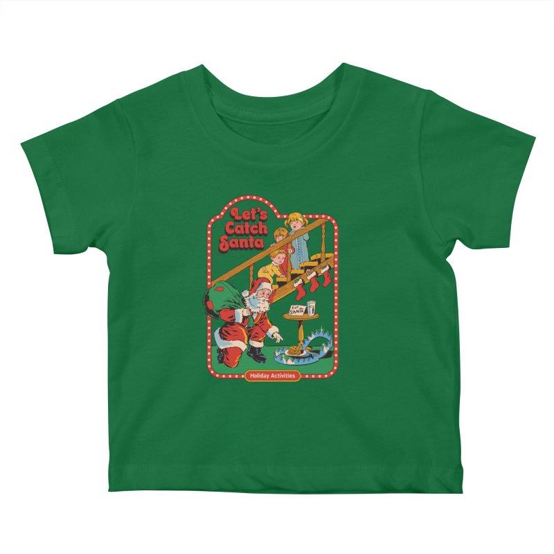 Let's Catch Santa Kids Baby T-Shirt by Steven Rhodes