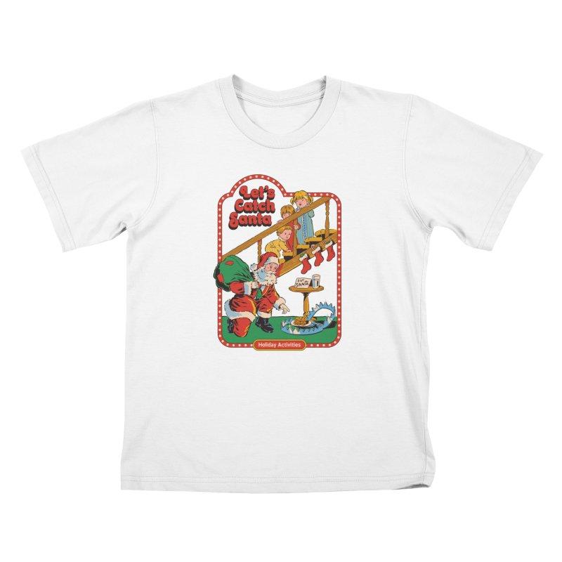 Let's Catch Santa Kids T-Shirt by Steven Rhodes