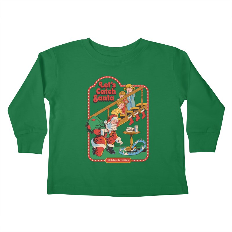 Let's Catch Santa Kids Toddler Longsleeve T-Shirt by Steven Rhodes