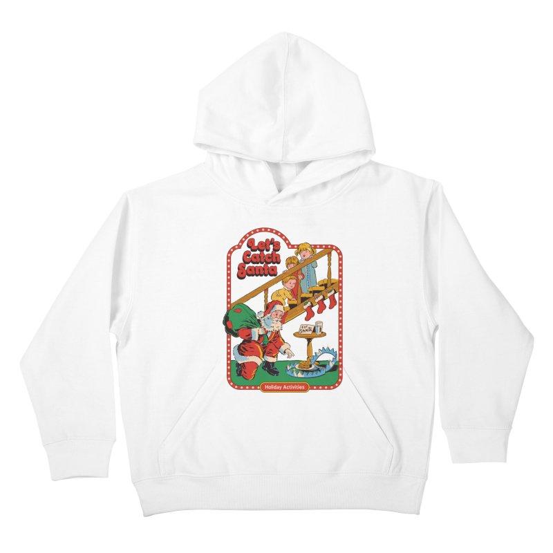 Let's Catch Santa Kids Pullover Hoody by Steven Rhodes