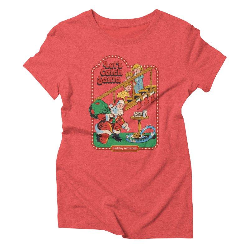 Let's Catch Santa Women's Triblend T-Shirt by Steven Rhodes