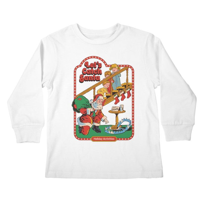 Let's Catch Santa Kids Longsleeve T-Shirt by Steven Rhodes