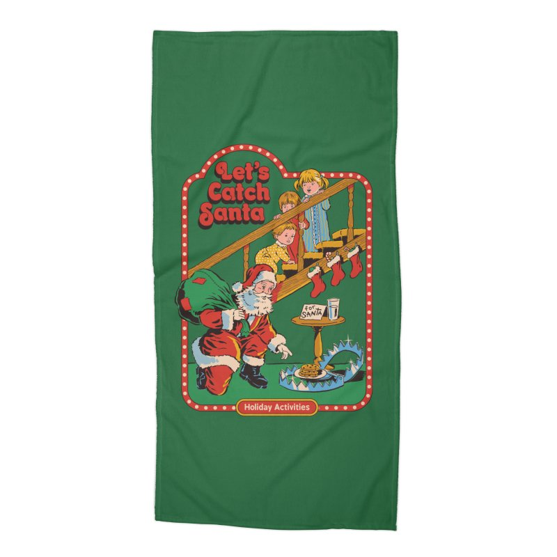 Let's Catch Santa Accessories Beach Towel by Steven Rhodes