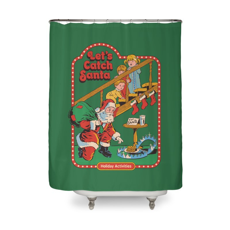 Let's Catch Santa Home Shower Curtain by Steven Rhodes