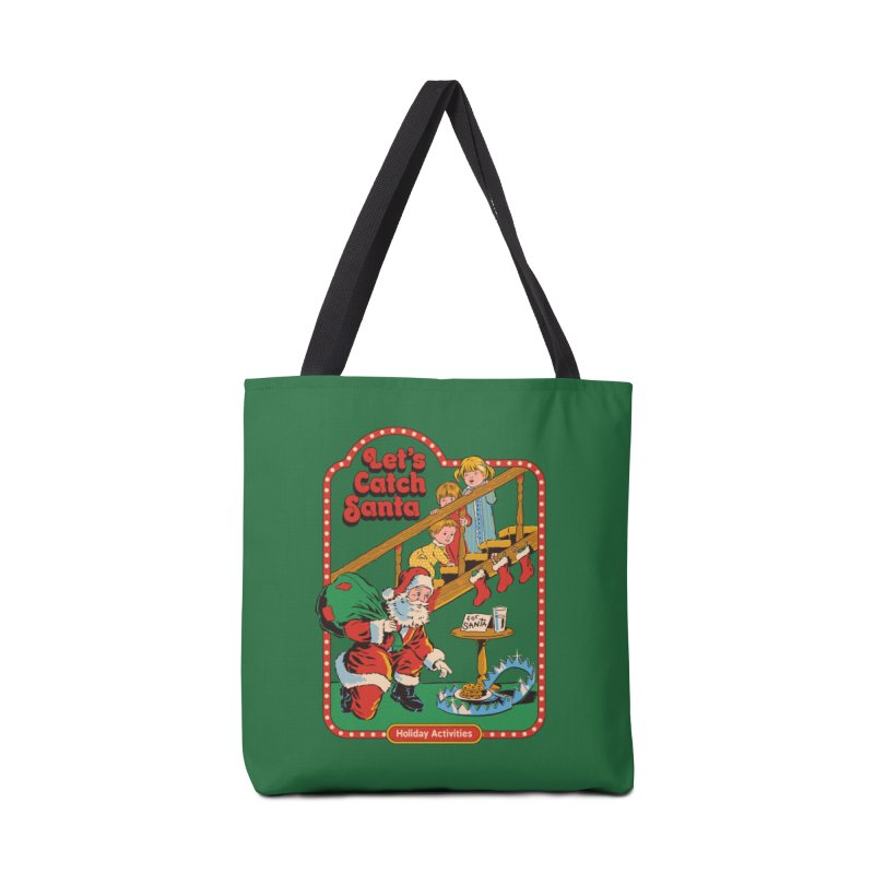 Let's Catch Santa Accessories Tote Bag Bag by Steven Rhodes